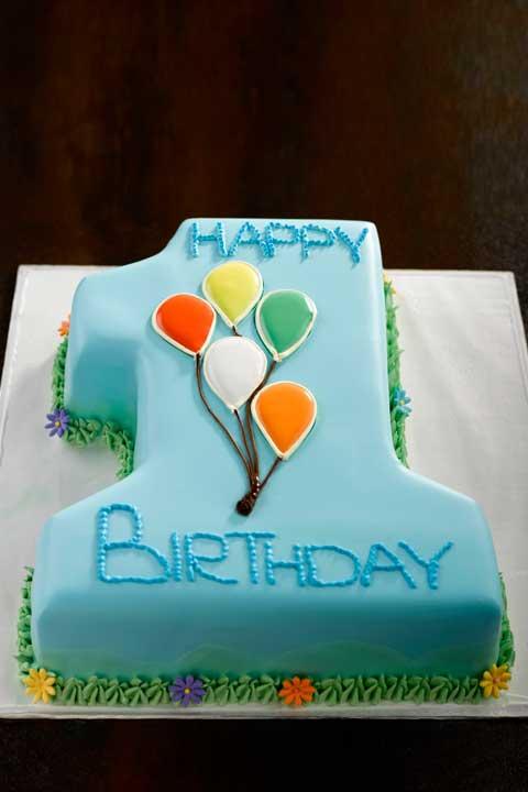1st Birthday Cake Baby Boy Number One